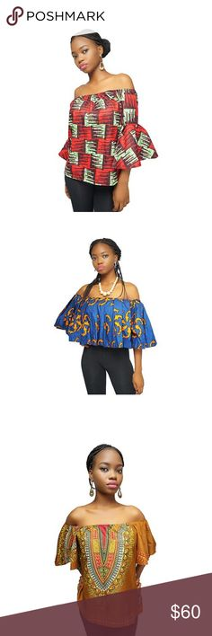 African print Ankara wears Ankara blouse available in all sizes for size 8 - 14 Dresses Midi