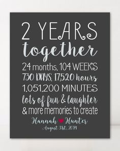 2 Year Anniversary Gifts for Boyfriend Gift for Him Personalized Gift for Girlfriend Custom Gift for Couple Wall Art Wedding Anniversary. 3 Year Wedding Anniversary Gift Ideas For Him 2 Year Anniversary Gifts For Him, Boyfriend Anniversary Gifts, 2 Year Anniversary Quotes, Two Year Anniversary, Boyfriend Birthday, Husband Anniversary, Marriage Anniversary, Paper Anniversary, Wedding Anniversary Gifts
