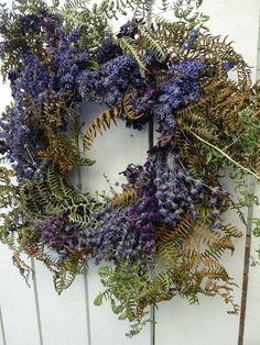 Twig Wreath, Boxwood Wreath, Hydrangea Wreath, Wreaths For Front Door, Door Wreaths, Fern Frond, Lavender Wreath, Floral Supplies, How To Make Wreaths