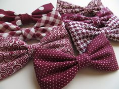 Stunning burgundy! The color of passion and romance. Complete the look with any of these burgundy coordinating groomsmen bow ties in all