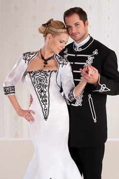 Bocskai suit from Hungary Colored Wedding Gowns, Wedding Dresses, Marching Band Uniforms, Elegant Dresses, Formal Dresses, Folk Costume, Costumes, Textiles, Classy Dress