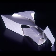 Model for the Serpentine Gallery Pavilion designed by Daniel Libeskind, architect, ARUP18 June to 9 September 2001  The design of '18 turns' is based on the idea of folding encountered in the Japanese art of origami.  Image © Daniel Libeskind  #DIYPavilion