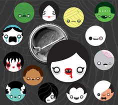 Last day to order Kawaii Monsters button/magnet sets is HALLOWEEN! Get yours today! $5