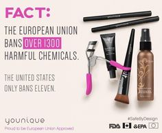 And this, my friends, is why Younique is allowed in Europe!! If you care about what is going on your skin, you need Younique in your life!