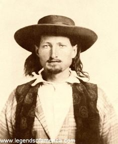 "James Butler Hickok had not yet earned the nickname of ""Wild Bill"" when this photo was taken in 1858. He was just 21 years old."