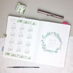 """3,382 mentions J'aime, 44 commentaires - Maren Janka (@pureplanning_bymj) sur Instagram: """"Here are my two first pages for 2017. And thank you for your sweet words on my year at a glance 🙂.…"""""""