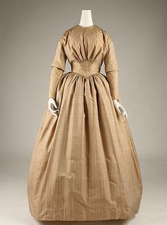 http://www.metmuseum.org/ Dress  Date: ca. 1846 Culture: French Medium: silk Dimensions: Length at CB: 59 in. (149.9 cm) Credit Line: Purchase, Irene Lewisohn Trust Gift, 1984 Accession Number: 1984.90.1