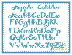 Apple Cobbler Embroidery Font