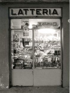 Bologna - Traditional milk shop.