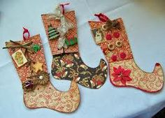 paper christmas stockings-LOVE!