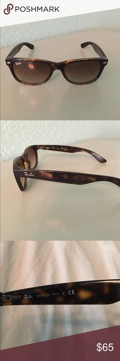 Ray-ban New Wayfarer. Authentic Ray-ban sunglasses. Made in Italy 🇮🇹. Tortoise frame. Very good condition. No major scratches. It has a case but tip of flap area is torn off. ( last pic) No Bundle or trade on this item, please! Ray-Ban Accessories Glasses