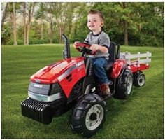 Peg Perego Case IH Magnum Tractor and Trailer Battery-Powered Ride-On Tractors For Kids, Case Ih Tractors, Peg Perego, Power Wheels, Thing 1, Kids Ride On, Ride On Toys, Future Baby, Kids Toys