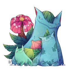 One of the three first generation starter Pokémon's evolutions: Bulbasaur, Ivysaur, Venusaur