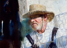 Working South: Paintings and Sketches by Mary Whyte. My friend Mary gave it to me. Painting People, Figure Painting, Painting & Drawing, Watercolor Artists, Watercolor Portraits, Watercolour Paintings, Tinta China, Portrait Art, Les Oeuvres