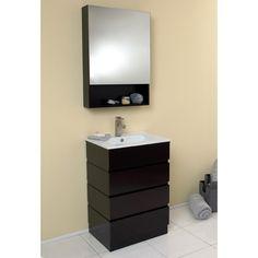 Gallery Website Fresca Stella Single Amato Modern Bathroom Vanity Set with Mirror u Reviews Wayfair