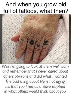 Not just about tattoos.