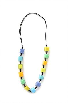 Colourful designer necklace | Juicy colors | Jewelry ideas