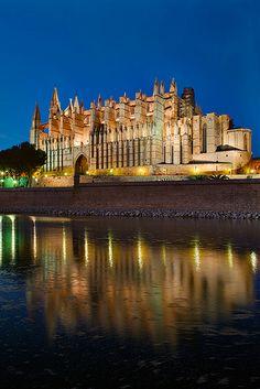Spain, Baleares, Mallorca, The Cathedral of Palma de Mallorca