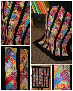 Friendship Braid quilt made in Brandon Mably fabrics.  Posted at Missouri Quilt Co