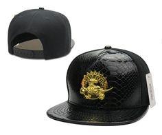 Mens Toronto Raptors NBA Gold Metal Team Logo Faux Crocodile Leather Front Baseball Snapback Hat - Black
