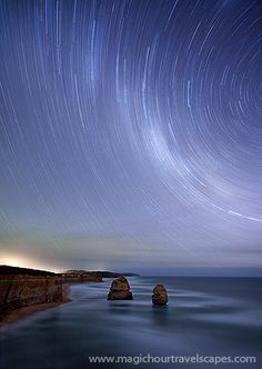 star trails, great ocean road, port campbell, apostles, gibsons beach