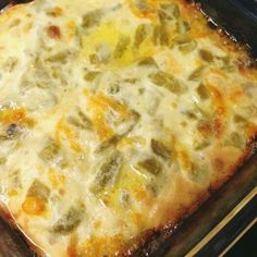 Chili Relleno Casserole  Ingredients:  1/2 lb. beef 1/4 onion (chopped) 1 10 oz. can whole green chilies 1 1/2 cups cheddar cheese 2 eggs 3/4 cups milk 1/8 cup flour 1 tsp cumin 1/2 tsp salt 1/2 tsp pepper  Directions:  Preheat oven to 375F. Cook hamburger meat and onion. Drain, then add cumin, salt, and pepper. Line the bottom of your pan with whole green chiles (chop extra green chiles for later).  Layer meat over green chiles. Top with cheese and chopped green chiles. Whisk together eggs…