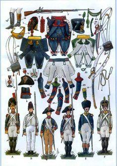 Uniformi della fanteria francese