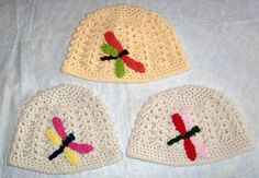 Dragonfly Crochet Beanie. $15.00, via Etsy.