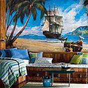 Детские обои с пиратским кораблем со скидкой 30%.  за 10 000 руб.