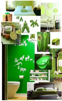 Lime Groen Kleur Foto Collage voor Huiskamer, Woonkamer, Badkamer, Slaapkamer & Keuken Inspiratie DroomHome.nl
