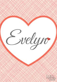 Evelyn: Meaning, origin, and popularity of the name. Most people wouldn't have guessed that Evelyn would be a top 20 name today, but looking at the trends, this one has had an almost predictable rise to the top over the last 30 years. No matter what, Evelyn will always feel stylishly vintage, thanks to its popularity in the 1910s and 20s.