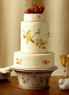 Brides: Wedding Cake of the Week: Handpainted Birds