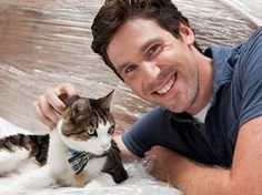 "TV show ""Must Love Cats"" host John Fulton.  Love a guy that loves cats!"