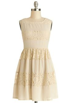 Lattes in Lace Dress. Today, youre sipping drinks with a cherished friend at a local cafe, looking sweet in this tan lace dress! #tan #modcloth