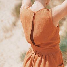 Pattern — Maria Paula — Open Back Dress Pattern Linen Dress Pattern, Simple Dress Pattern, Summer Dress Patterns, Dress Sewing Patterns, Sewing Patterns Free, Free Sewing, Clothing Patterns, Skirt Sewing, Skirt Patterns