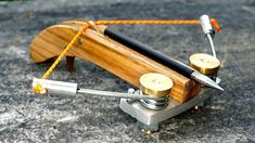Making a Mini Spring Crossbow Homemade Crossbow, Diy Crossbow, Homemade Weapons, Homemade Tools, Crossbow Parts, Metal Lathe Projects, Woodworking Projects Diy, Survival Weapons, Survival Tools