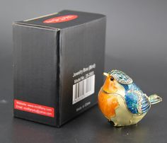 Easter Gifts for Her Birthday Gift for Women and Child Gifts for event Fine Pewter boxes jeweled Bird Trinket Small Box bird decor jewelry holder organizer trinket boxes hinged blue and yellow ** Be sure to check out this awesome product. (This is an affiliate link)
