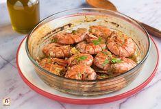 Gamberoni al vino bianco - Secondo piatto marinato, cotto al forno