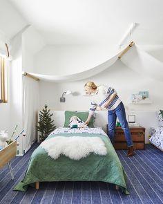 How We Designed an Adventure-Themed Shared Boy & Girl Bedroom (+ DIYs) Boy And Girl Shared Room, Boy Girl Bedroom, Shared Rooms, Childs Bedroom, Kid Bedrooms, Boy Rooms, Dressing Room Design, Stylish Bedroom, Home Renovation