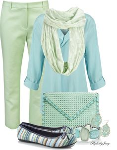 """Colors of the Sea"" by stylesbyjoey ❤ liked on Polyvore"