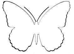 Tarjeta de agradecimiento con forma de mariposa