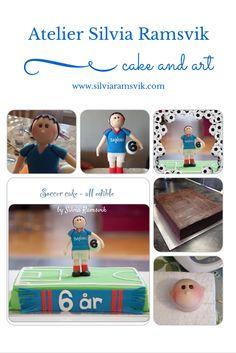 Soccer cake Fotballkake Bolo tema futebol Soccer Cake, Sugar Paste, Novelty Cakes, Fondant, Soccer, Sugar Pie, Fondant Icing, Gum Paste