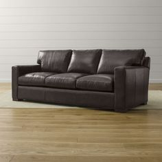 Axis II Leather Queen Sleeper Sofa with Air Mattress - Crate and Barrel