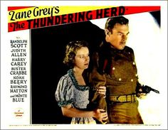 THE THUNDERING HERD - Randolph Scott - Judith Allen - Harry Carey - Buster Crabbe - Noah Berry - Raymond Hatton - Monte Blue - Directed by Henry Hathaway - Paramount - Movie Poster.