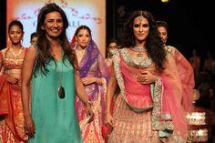 Neha Walks The Ramp With Designer Pam At Gitanjali Gems On Day 2 At IIJW Delhi 2013