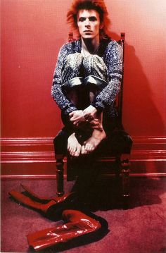 David Bowie -- by Mick Rock - and i so want those boots!