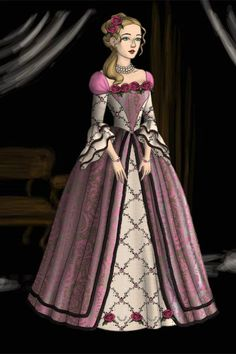 Christine, Queen of Tiberia - Evening Costume by TheTudorQueen16 ~ Folk and Historical Dress Up