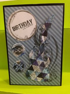 Birthday Card using Kaisercraft Off The Wall collection - Greeting Grub Cards