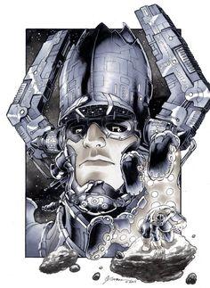 Galactus vs Thanos by DanielGovar on deviantART