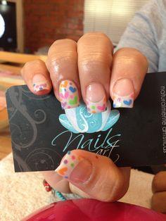 Nails art, acrylic nails, sweet nails